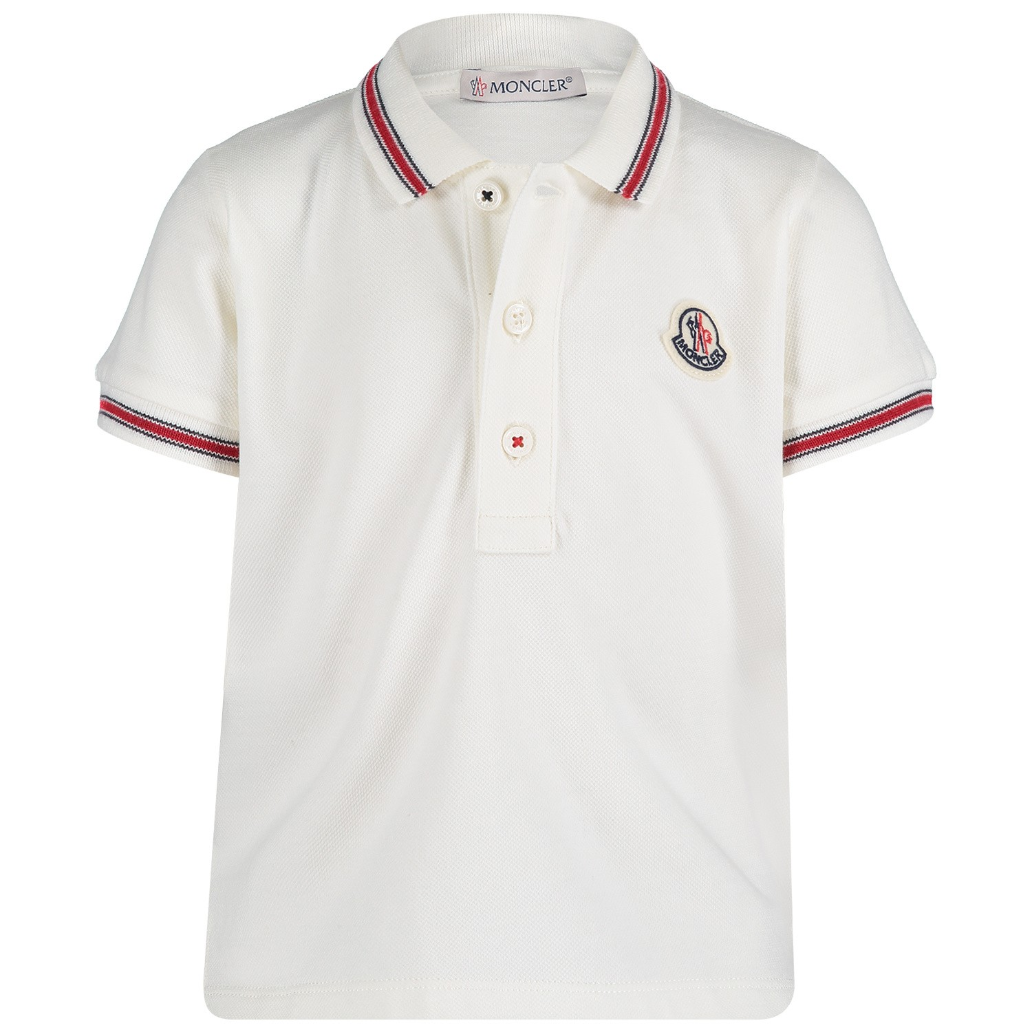 Picture of Moncler 8306605 baby poloshirt off white