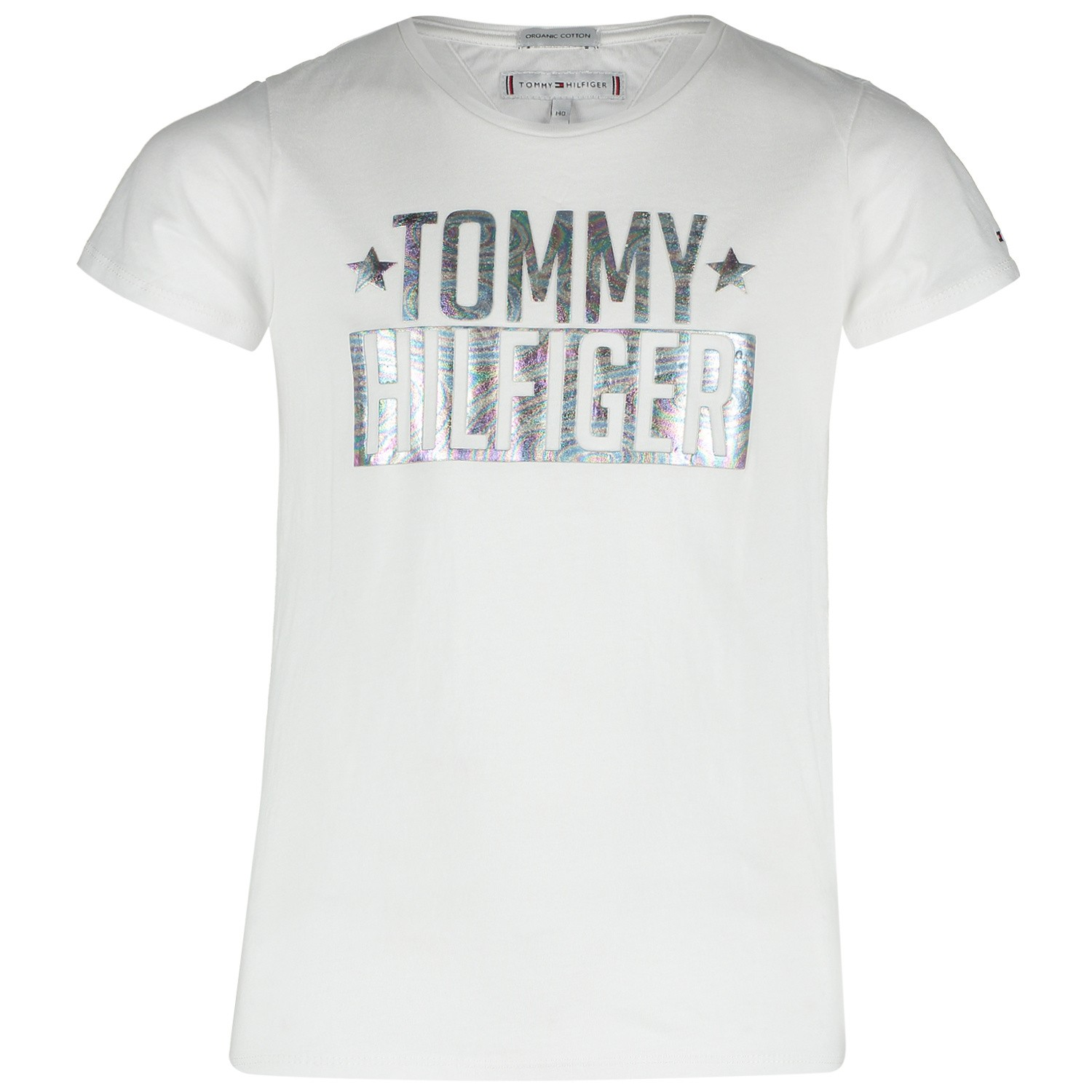 Picture of Tommy Hilfiger KG0KG04084 kids t-shirt white