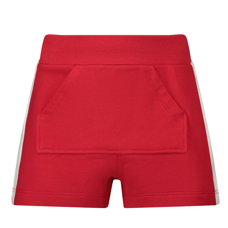 Afbeelding van MonnaLisa 397411R1 baby shorts rood
