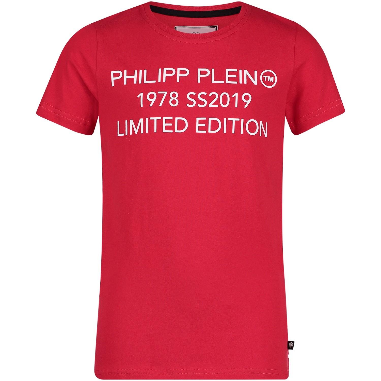 Afbeelding van Philipp Plein BTK0611 kinder t-shirt rood