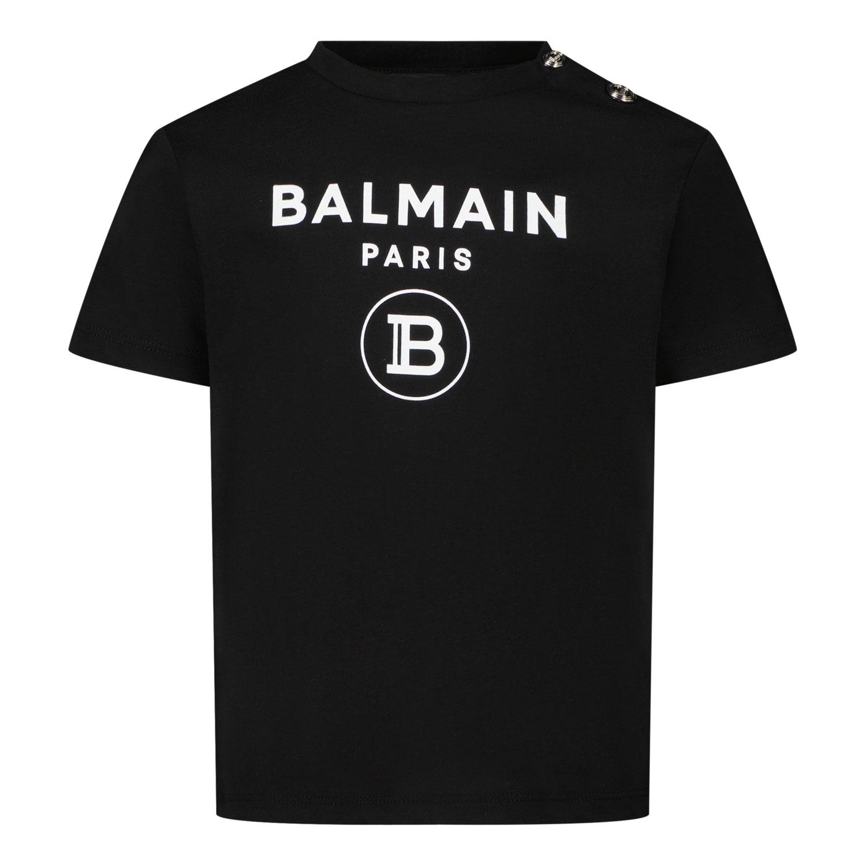Afbeelding van Balmain 6P8A91 baby t-shirt zwart