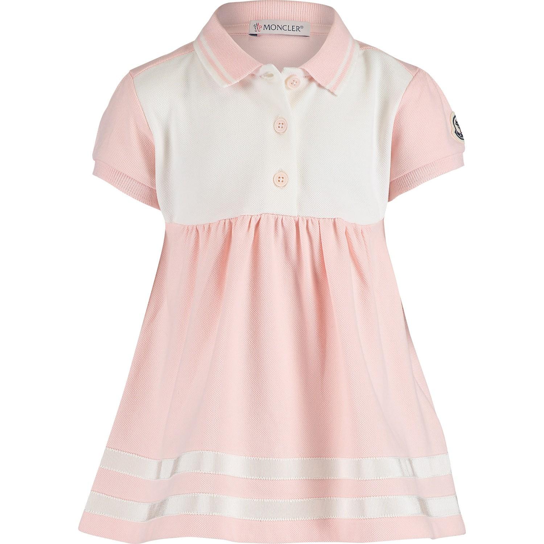 Afbeelding van Moncler 8574105 babyjurkje licht roze