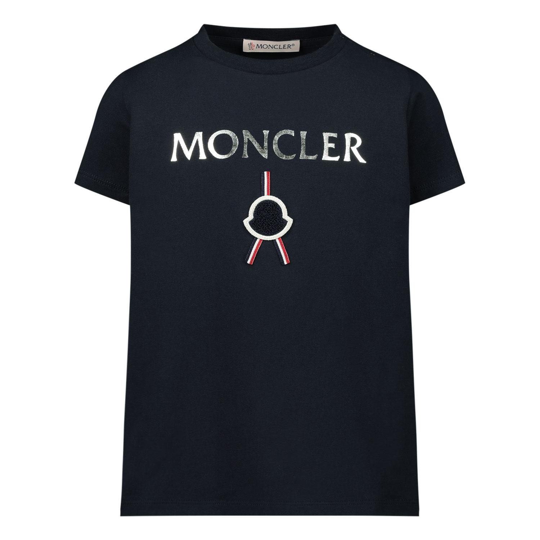 Afbeelding van Moncler 8C72310 baby t-shirt navy
