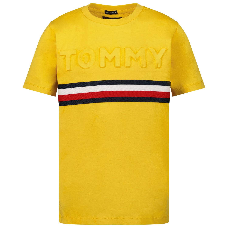 Afbeelding van Tommy Hilfiger KB0KB06320 kinder t-shirt oker
