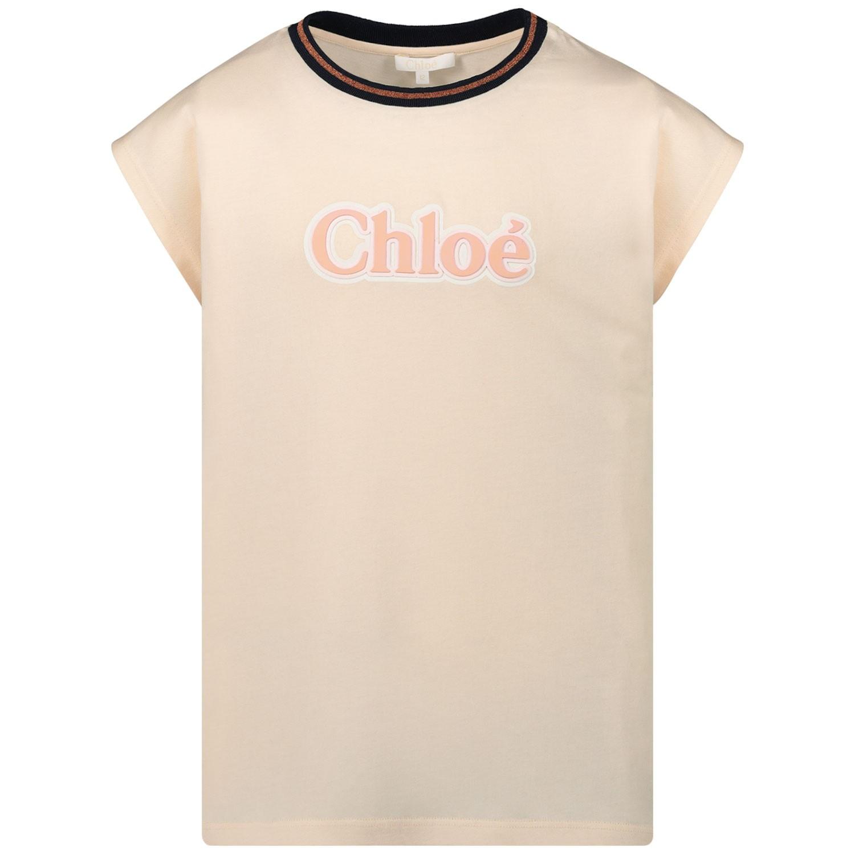 Afbeelding van Chloé C15A61 kinder t-shirt licht roze