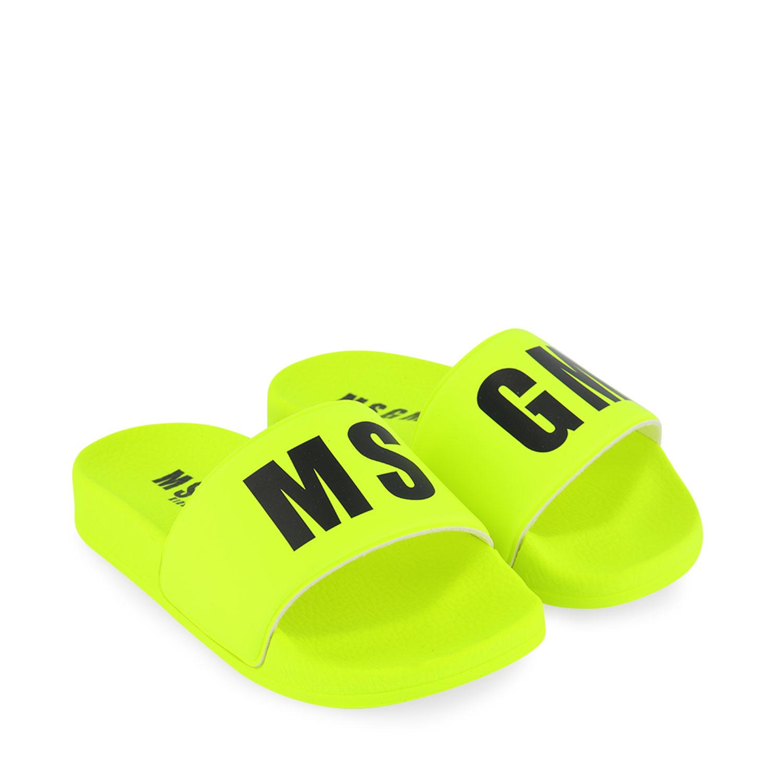 Afbeelding van MSGM 67302 kinderslippers fluor geel