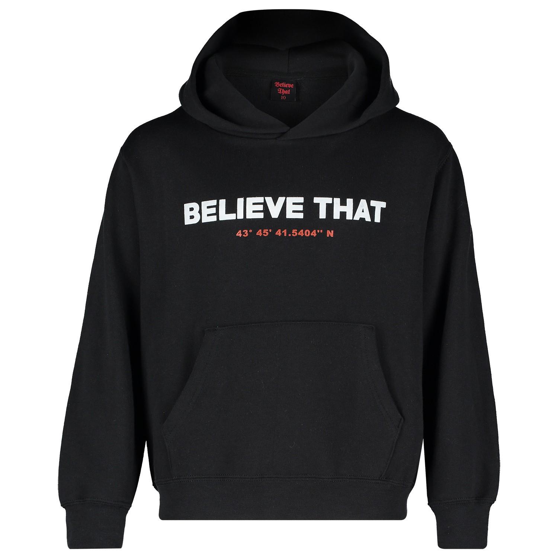 Afbeelding van Believe That HOODIE BELIEVE THAT kindertrui zwart