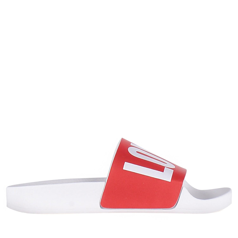 Afbeelding van The White Brand K013 kinderslippers rood