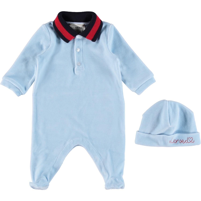 Afbeelding van Gucci 516324 babysetje licht blauw