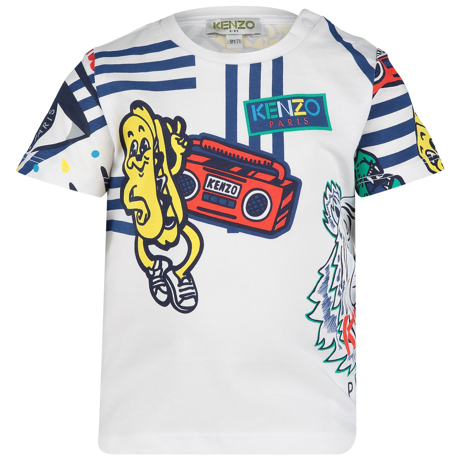 Picture of Kenzo KN10518BB baby shirt white