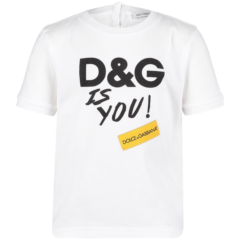Afbeelding van Dolce & Gabbana L2JTCR baby t-shirt wit
