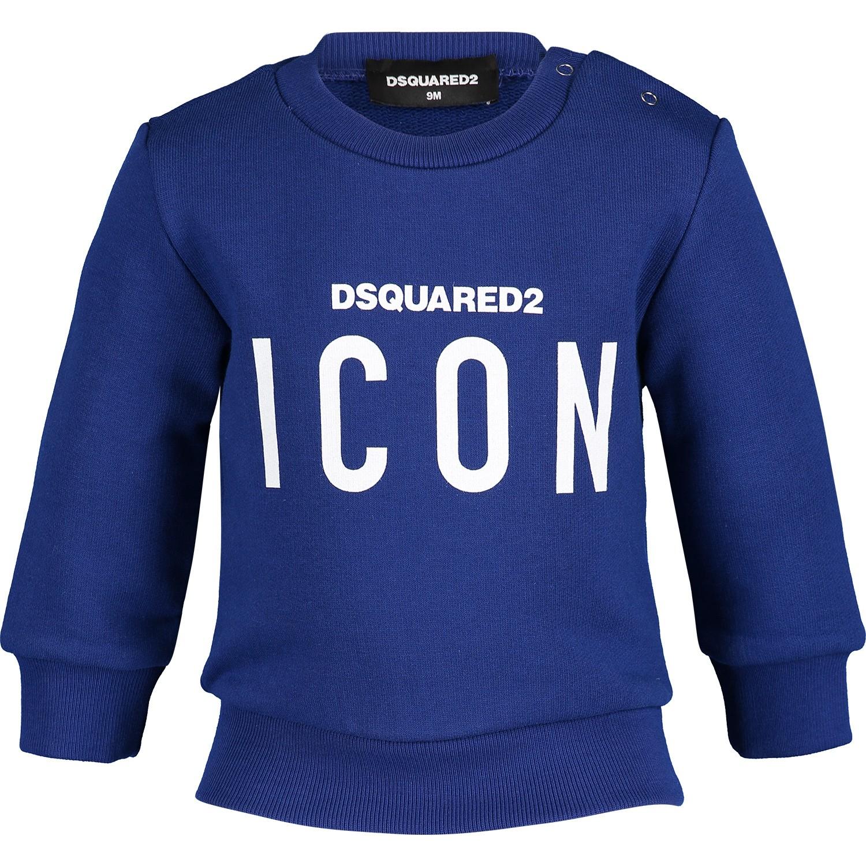Afbeelding van Dsquared2 DQ03G3 baby trui cobalt blauw