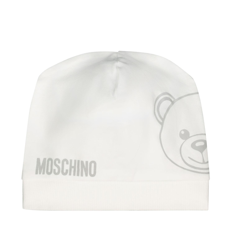 Afbeelding van Moschino MNX035 babymutsje wit