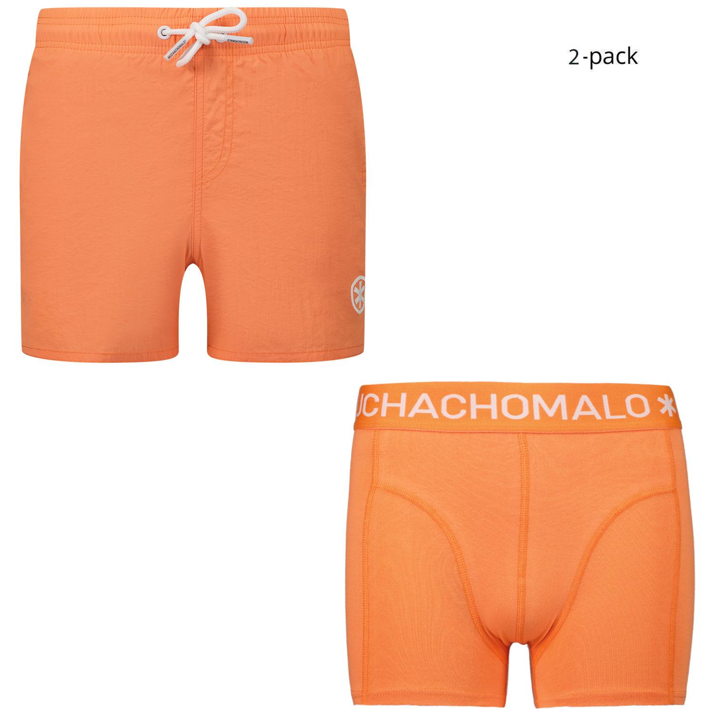 Afbeelding van Muchachomalo SOLID2062 kinder zwemkleding peach