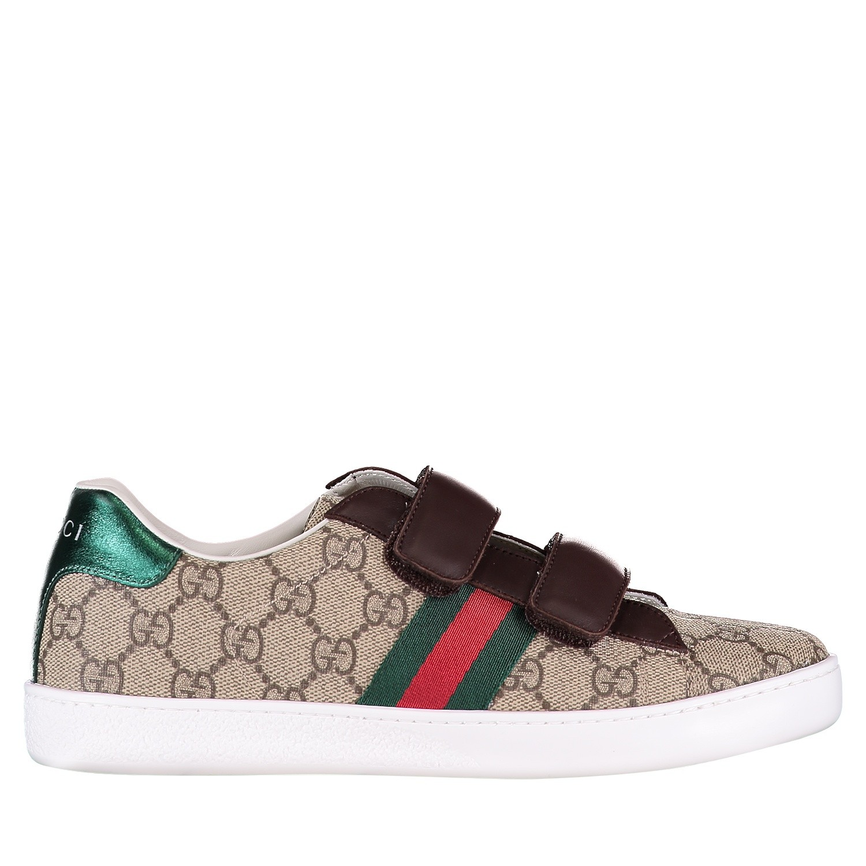 Afbeelding van Gucci 463091 9C220 kindersneakers bruin