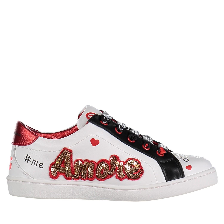 Afbeelding van Dolce & Gabbana D10689 AV526 kindersneakers wit