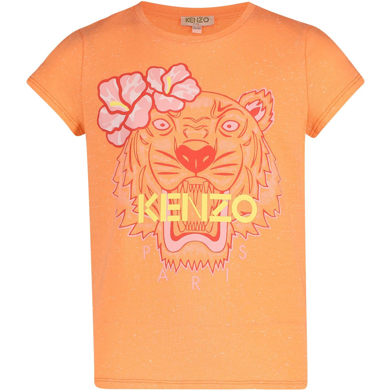 Afbeelding van Kenzo KN10138 kinder t-shirt zalm