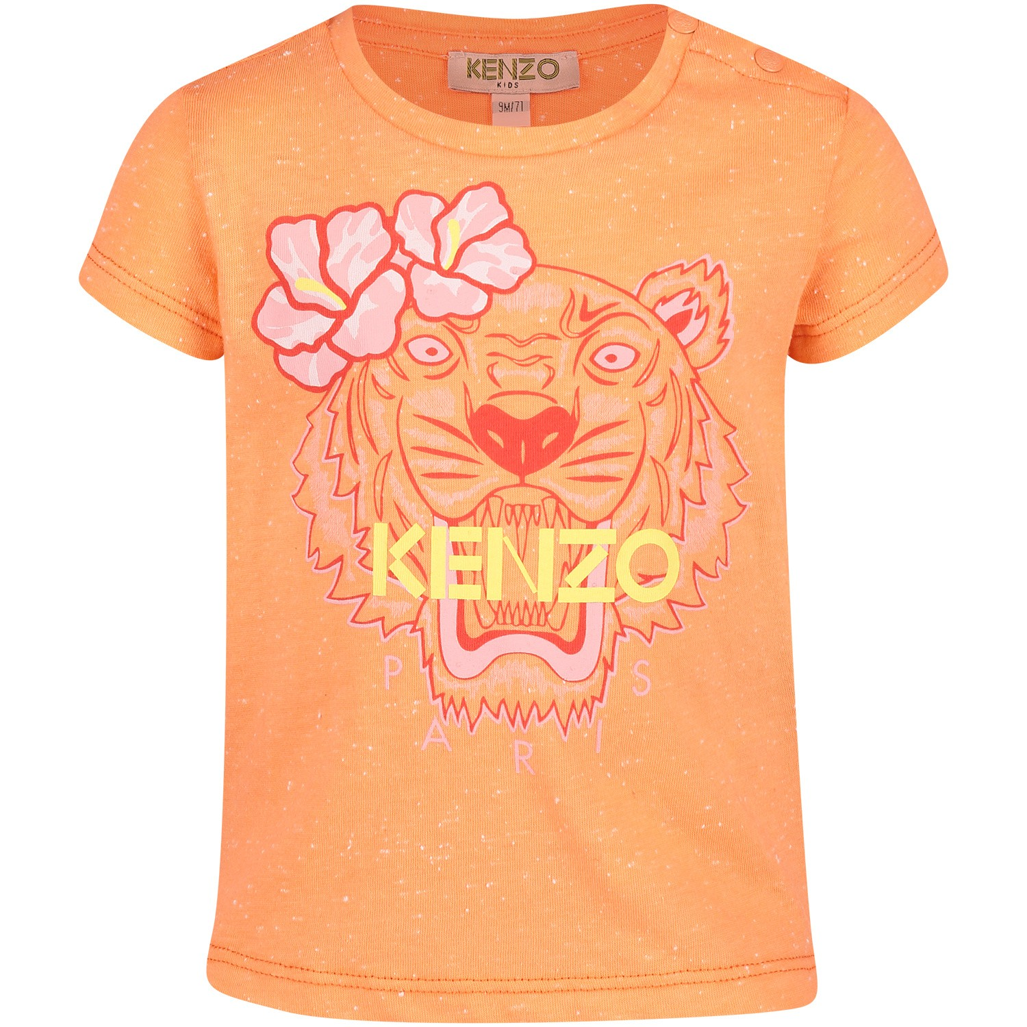 Picture of Kenzo KN10138BB baby shirt salmon