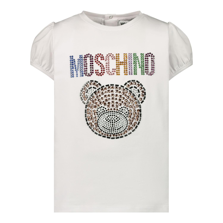 Afbeelding van Moschino MEM02B baby t-shirt wit