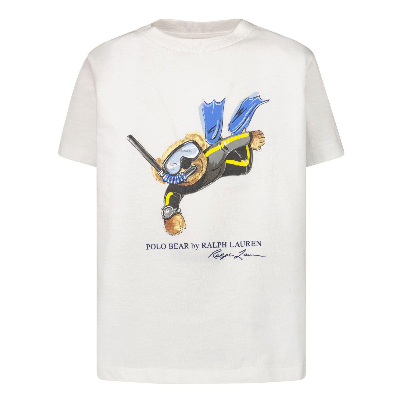 Afbeelding van Ralph Lauren 838249 kinder t-shirt wit