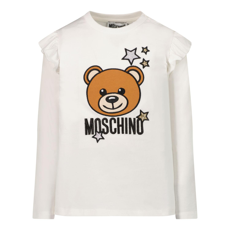 Afbeelding van Moschino MDO007 baby t-shirt wit