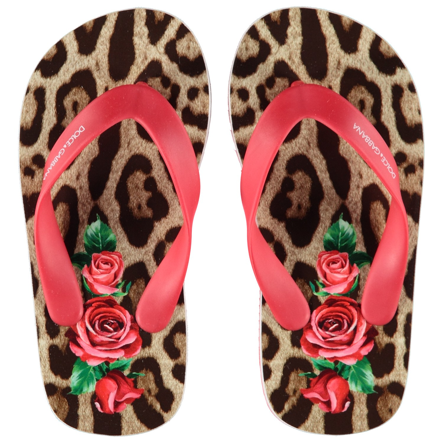 Picture of Dolce & Gabbana D00128 kids flipflops red