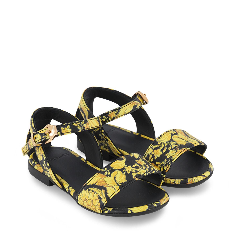 Afbeelding van Versace 1000362 kindersandalen goud/zwart