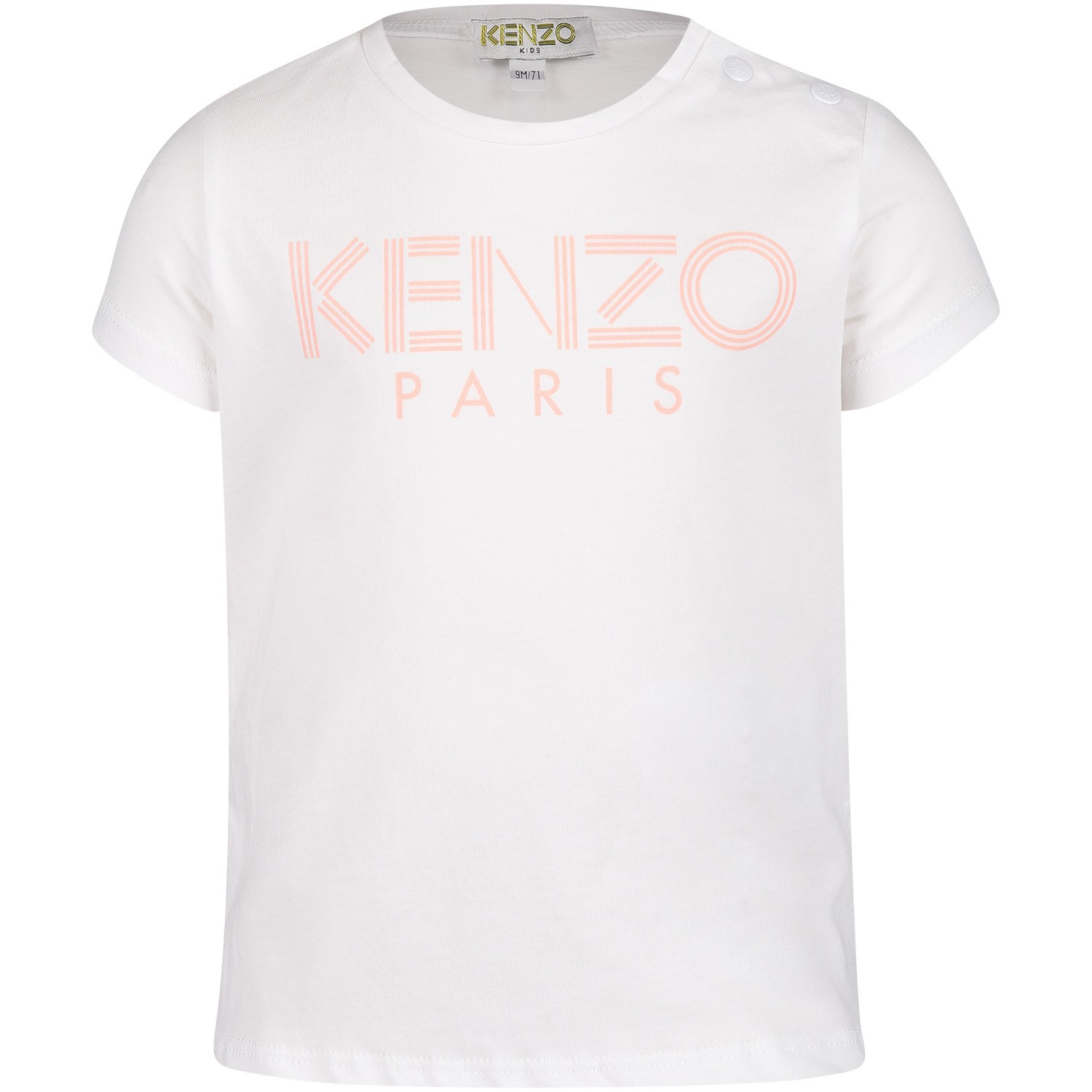 Picture of Kenzo KN10077 baby shirt white