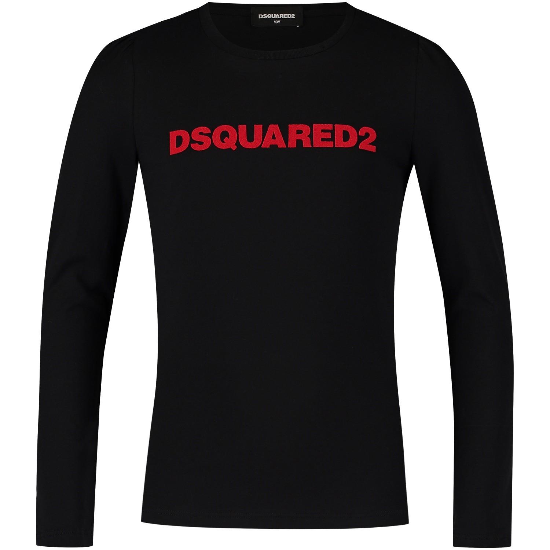 Afbeelding van Dsquared2 DQ02XW kinder t-shirt zwart