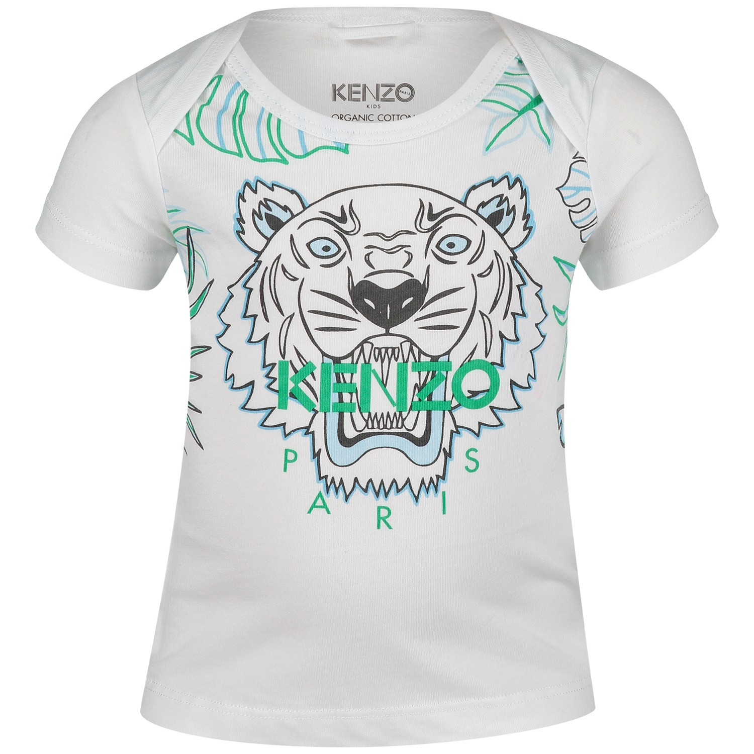 Picture of Kenzo KN10523 baby shirt white