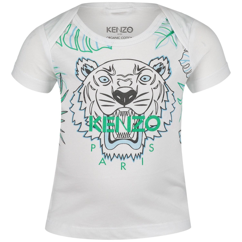 Afbeelding van Kenzo KN10523 baby t-shirt wit