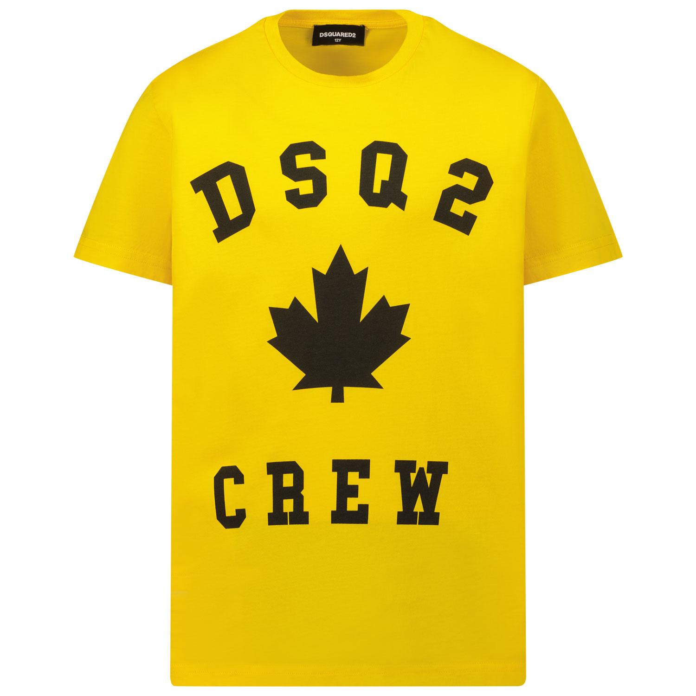 Afbeelding van Dsquared2 DQ0527 kinder t-shirt geel
