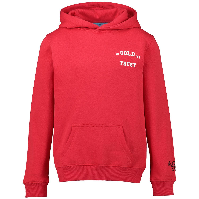 Afbeelding van In Gold We Trust KIDSWK001108011226HS kinder hoodie rood