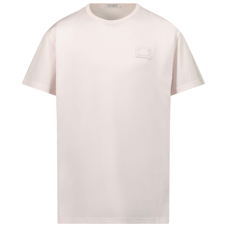 Afbeelding van Dolce & Gabbana L4JT7T G7OLK kinder t-shirt licht roze