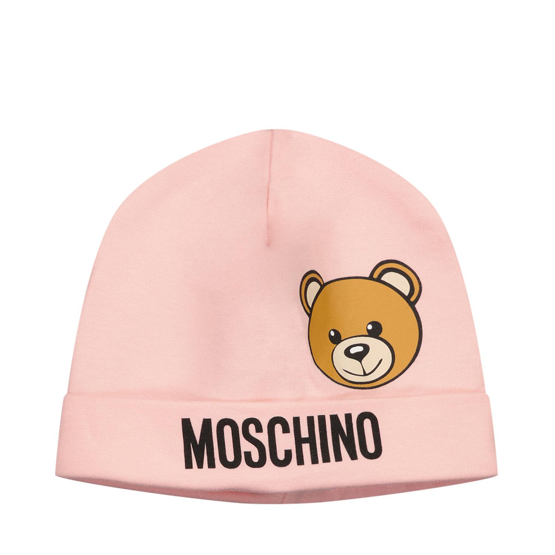 Afbeelding van Moschino MUX03W babymutsje licht roze