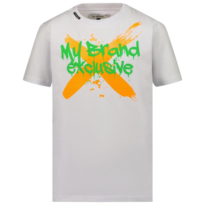 Afbeelding van My Brand 3X21001A0011 kinder t-shirt wit