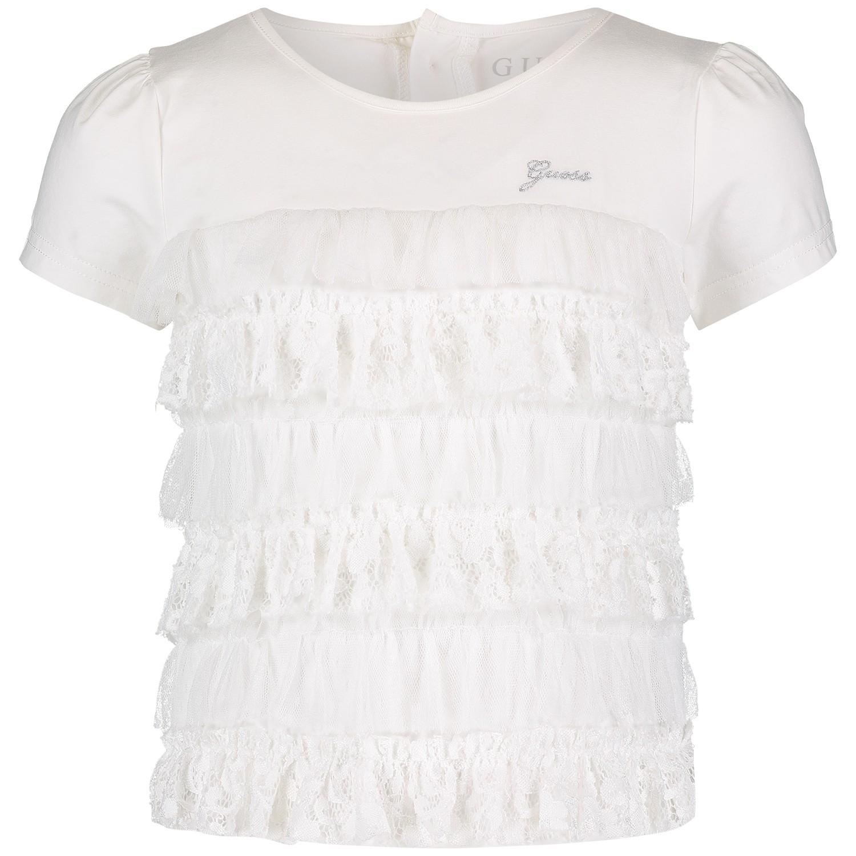 Afbeelding van Guess K91I19 kinder t-shirt wit