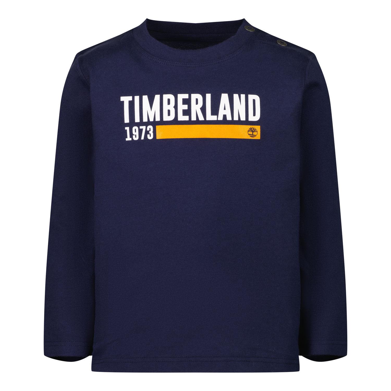 Afbeelding van Timberland T05K17 baby t-shirt navy
