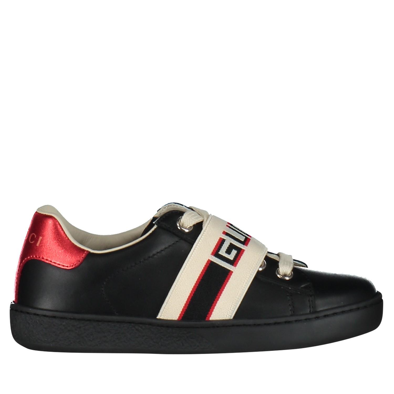 5ca77cb9c55 Afbeelding van Gucci 553053 kindersneakers zwart