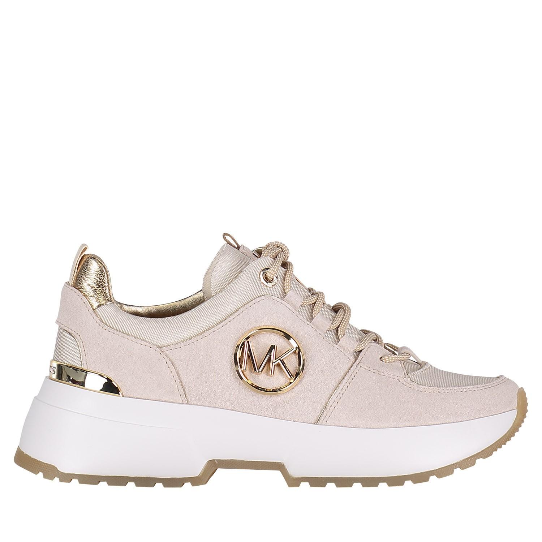 Afbeelding van Michael Kors 43R9CSFS1S dames sneakers licht beige