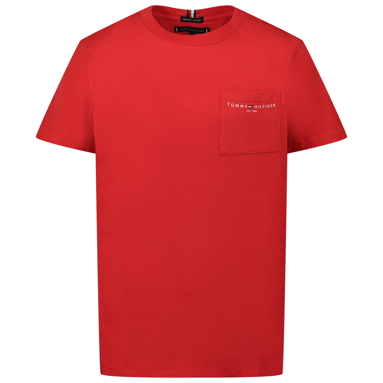 Afbeelding van Tommy Hilfiger KB0KB06556 kinder t-shirt rood