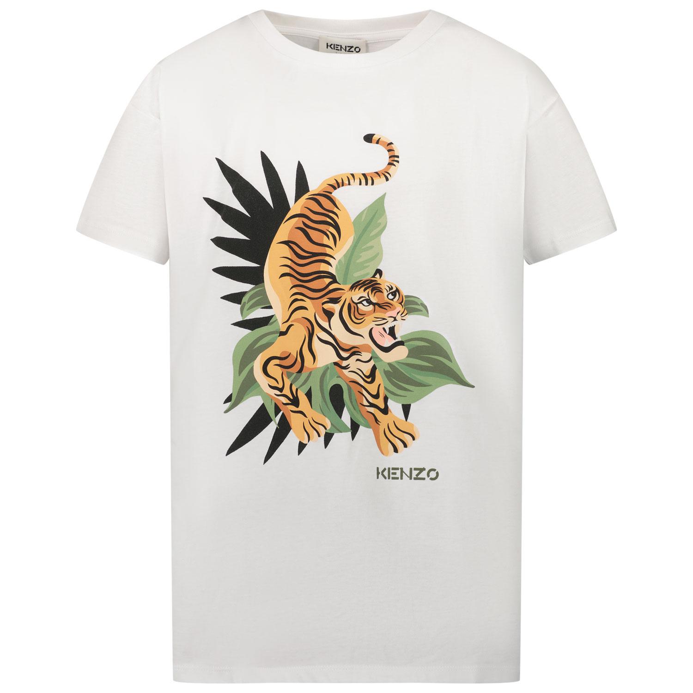 Afbeelding van Kenzo K25106 kinder t-shirt wit