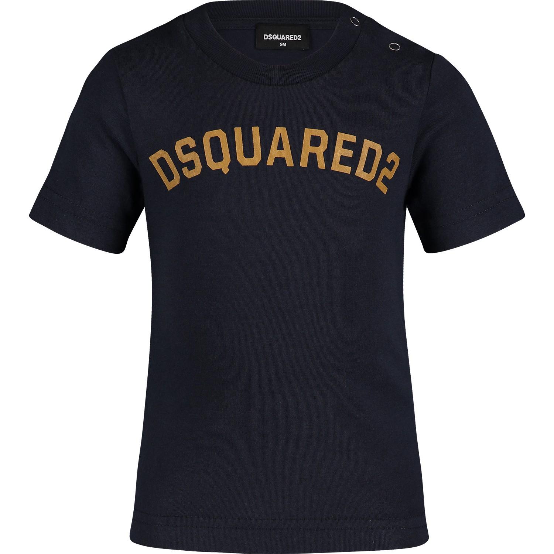 Afbeelding van Dsquared2 DQ03FF baby t-shirt navy