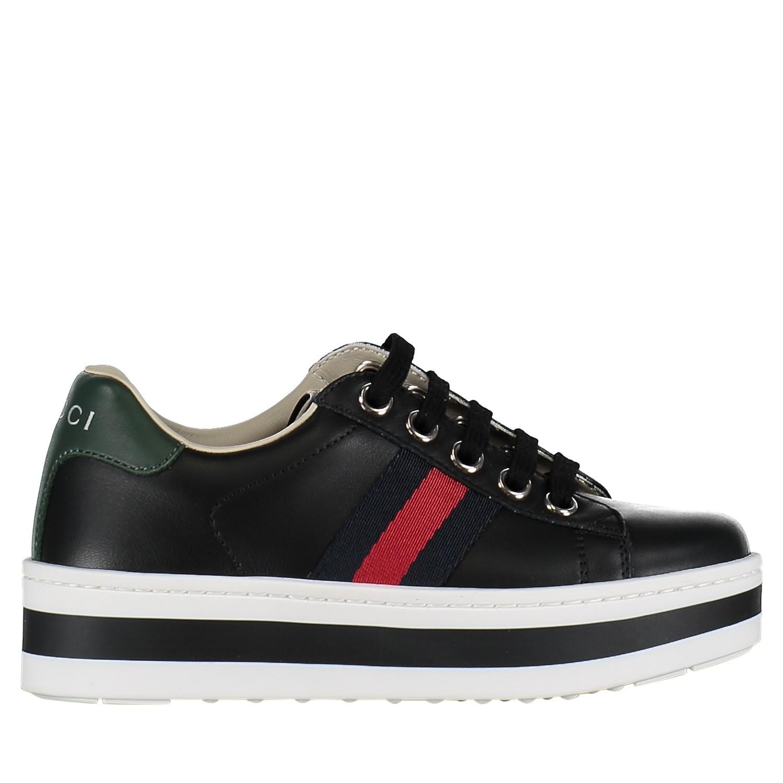Afbeelding van Gucci 526158 kindersneakers zwart