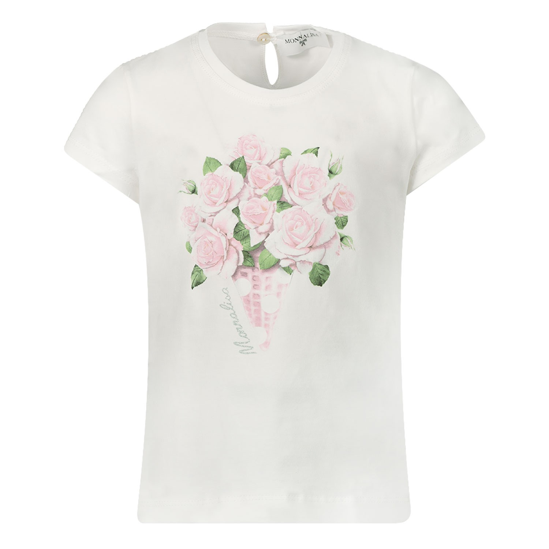 Afbeelding van MonnaLisa 315627PA baby t-shirt off white