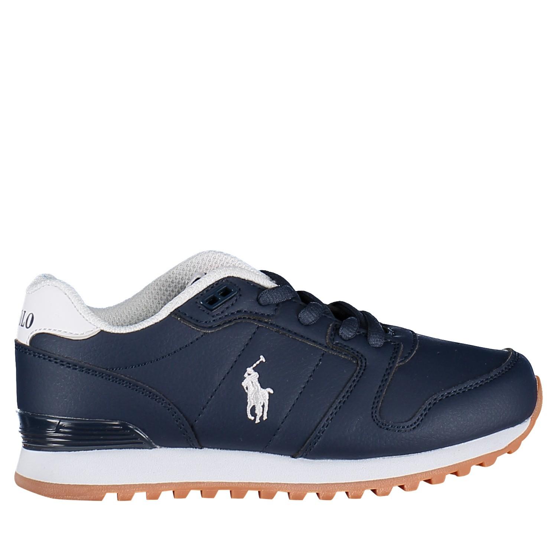 Picture of Ralph Lauren RF101681 kids sneakers navy