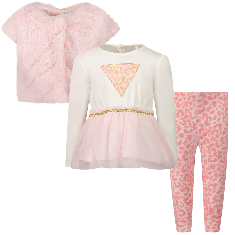 Afbeelding van Guess A1BG07 B babysetje licht roze