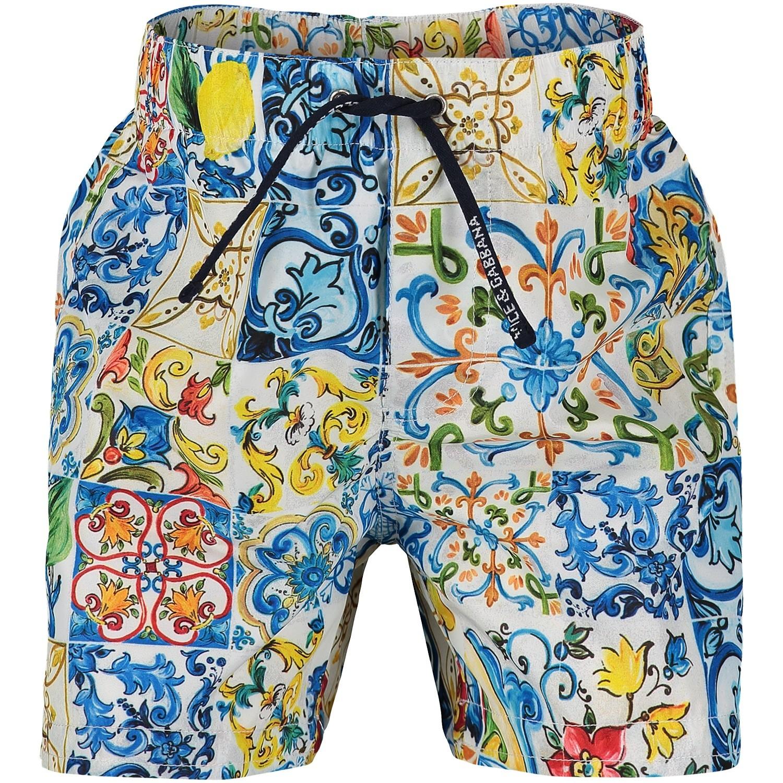 Afbeelding van Dolce & Gabbana L1U832 HSMSM baby badkleding blauw
