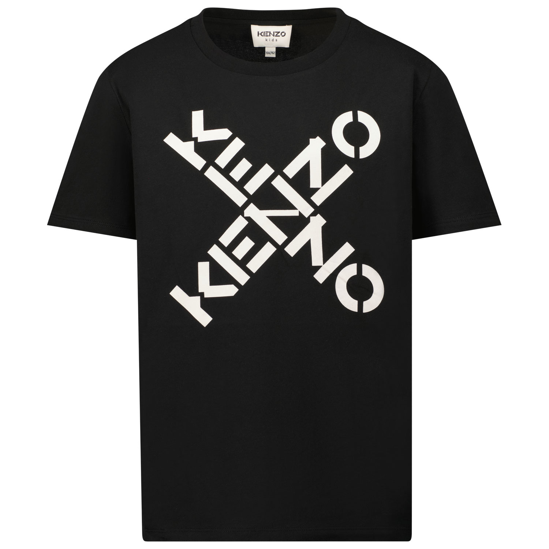 Afbeelding van Kenzo K25175 kinder t-shirt zwart