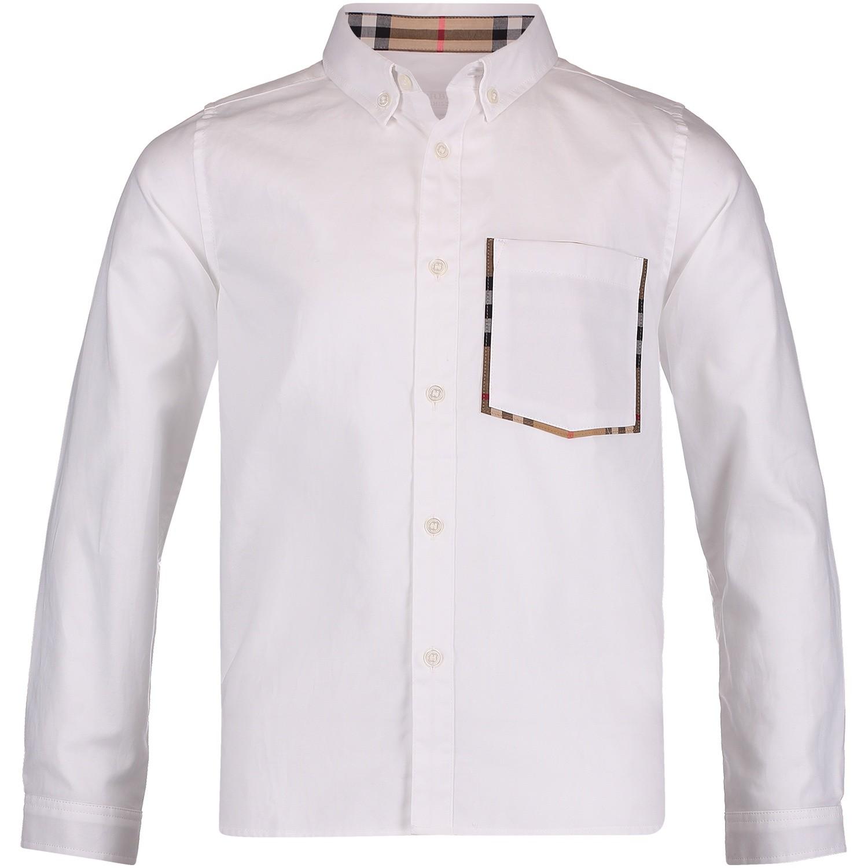 Afbeelding van Burberry 8005437 kinder overhemd wit
